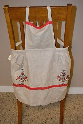 Vintage Russian Apron with Tags
