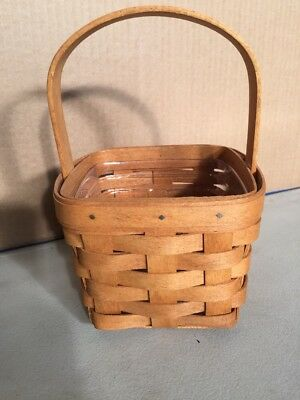 Longaberger Basket Small W Handle & Insert Clean Signed
