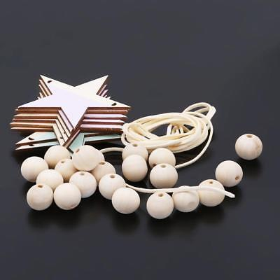 Star Wooden Beads Tassel Pendant Girls Wall Hanging Room Decorations -LIN