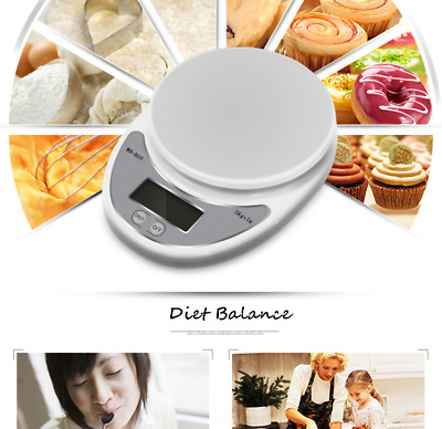 Accuracy 0.1g-1g 5000g 5kg Mini Digital LCD Electronic Scales Home Kitchen UR