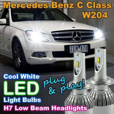#M74 Canbus H7 LED Headlight Bulbs to suit Mercedes-Benz C Class W204 Low Beam