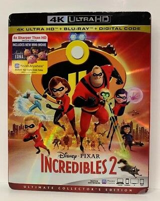New -  Incredibles 2 (4K Ultra HD + Blu-ray + Digital, 2018)  with Slipcover