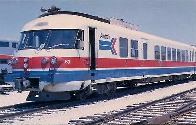 (#540) Amtrak Railroad France ANF Turboliner Train Chicago Early Image Postcard