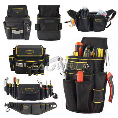 Electrician Waist Bag Tool Holder Convenient Work Organizer Pouch Belt Men Multi-pockets Tool Bag For Hand Tools Screwdrivers Tool Organizers