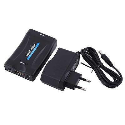 SCART to HDMI Converter Adapter Composite Video Scaler Audio for PC TV DVD PS3
