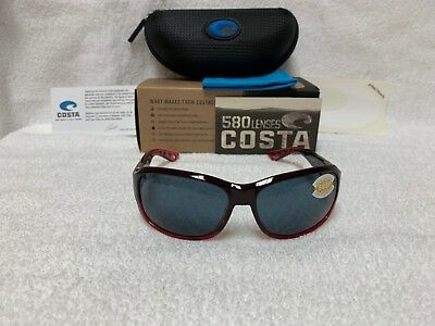 e540ddca2a98 NEW Costa Del Mar Inlet Polarized Sunglasses Pomegranate Gray 580P IT 48  OGP 580