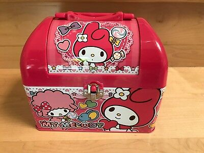 SANRIO My Melody Pink KAWAII Storage Box Accessory Case w/ handle Made in Japan