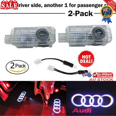 2Pack LED Logo Light Shadow Projector Car Door Courtesy Laser Light For New Audi