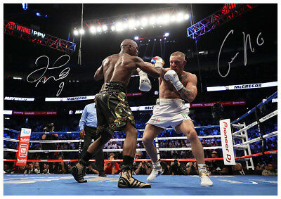 Floyd Mayweather Vs Conor Mcgregor Ufc Autographed Poster Print.rare Momorabilia