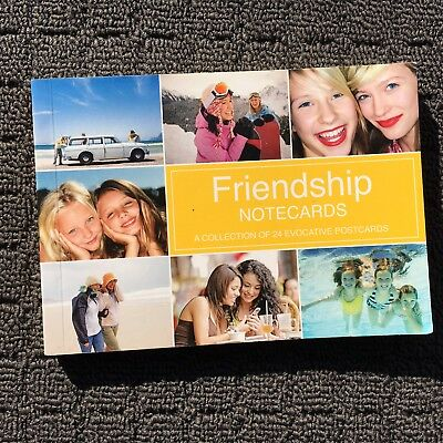 FRIENDSHIP NOTECARDS Book Filled with 24 Colourful Evocative Postcards (2011)