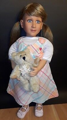 """My Twinn Doll with Lot of Clothes Dark Blonde Blue Eyes 22"""" Christmas gift!"""