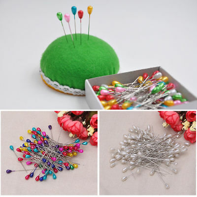 Extra Long Pearl Head Dressmaking Pins Wedding Corsage Florists Sewing DIY Tool