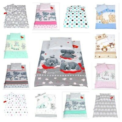 Baby Bedding Set Pillowcase & Duvet Cover /  2Pc To Fit Cot Bed / Cotbed
