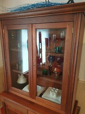 Louis Philippe 2 Door Glazed Bookcase Absolutely Stunning Gorgeous Wood