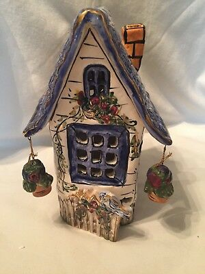 Blue Sky Clayworks by Heather Goldminc Cottage T lite house,