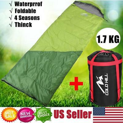 Outdoor Envelope Sleeping Bag Portable Camping Hiking Travel Ultra Light Liner