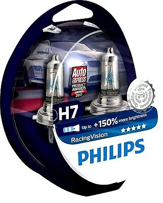 Set x 2Pieces Philips Racing Vision H7 RacingVision Ampoule Phare Montage Facile