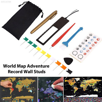 D468 8pcs/Bag Diy Scratch Pen Set for Scratch Map World Maps Markers Stickers