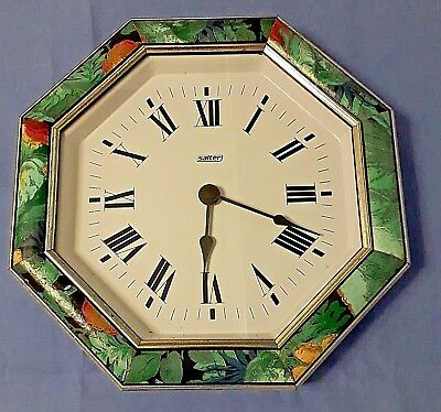Hand painted wall clock,octagon shape