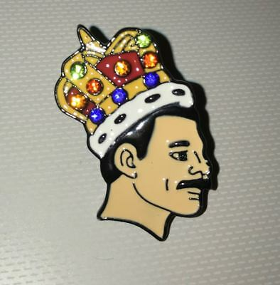Freddie Mercury Pin Badge with Gems (Queen) Bohemian Rhapsody