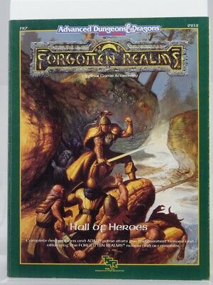 """TSR 9252 Forgotten Realms """"Hall of Heroes"""" (AD&D) 103003002"""