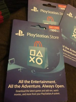 Sony Playstation Network $100 USD Card - PSN 100 Dollar - PS4 PS3 PSP USA Only