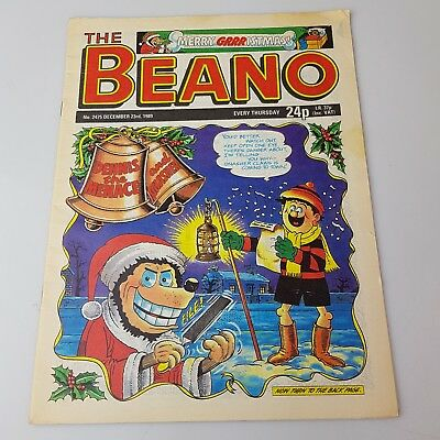 The BEANO Comic Vintage Christmas 23rd December 1989 #2475 UK Dennis the Menace