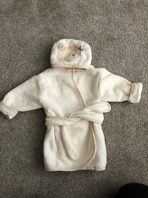 New Baby Girlsboys Ff Grey Dressing Gown 0 3 Months 300