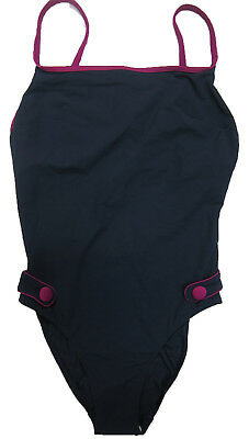 New Womens Marks & Spencer Blue & Pink Swimming Costume Size 32 D