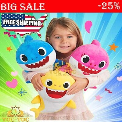 Baby Shark Plush Singing Plush Toys Music Doll English Song for Pinkfong 2019