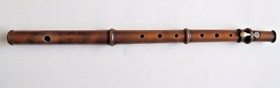 Antique William Hall & Son 239 Broadway New York Wooden 1 Key Flute Wood