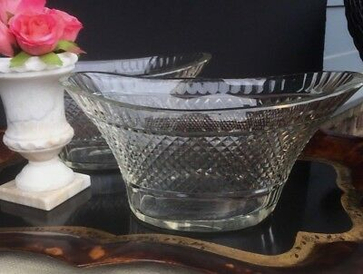 Pair Of Antique 19th Century Anglo Irish Cut Crystal Bowls