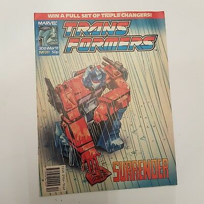TRANFORMERS Comic Issue #311 30th March 1991 (Hasbro) in VGC+