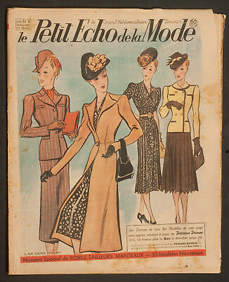 'echo De La Mode' French Vintage Newspaper Spring Fashion Issue 19 February 1939