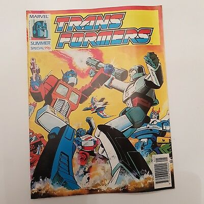 TRANFORMERS Summer Special Comic 1992 Marvel UK (Hasbro Inc.) Gen 1 **Rare**