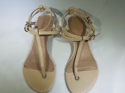 ed3ce01c7089 Aldo Women Ankle Straps Low Wedge Heels Thong Casual Buckle Sandals Size 6.5