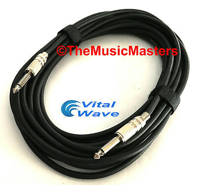 "30ft 1/4"" Instrument Guitar Bass Amp Keyboard Audio Patch Cable Cord Wire VWLTW"