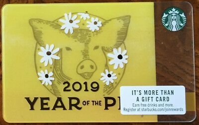 Rare Starbucks Chinese New Year 2019 Gift Card  Year of The Pig