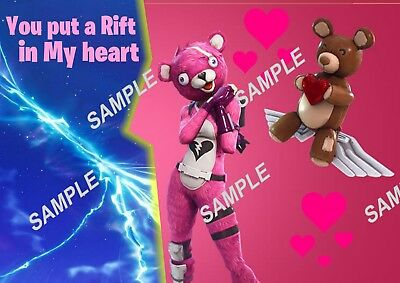 Fortnite Valentines Day Poster - A3 - Custom Name Option available