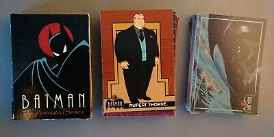 Vintage Topps 1993 Batman Animated Series Trading Card Set 1-100