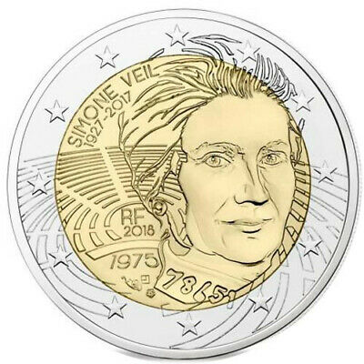 2€ commémorative FRANCE 2018 - Simone Veil - UNC