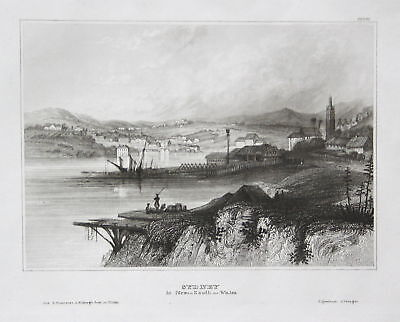 1840 Sydney Australien Australia New South Wales Ansicht Stahlstich engraving