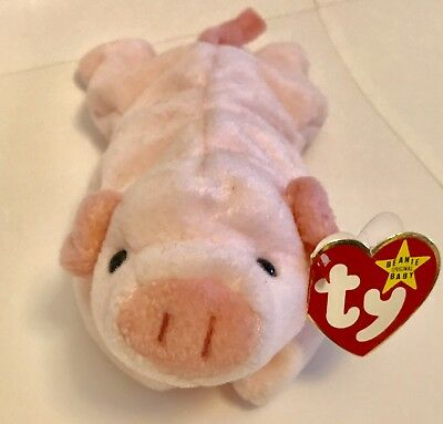 d2b33a3489a RETIRED TY BEANIE Baby Soft Pink Pig Named SQUEALER from 1993 ...