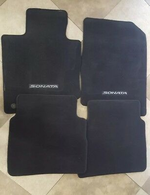 New 2014 Hyundai Sonata carpeted Floor Mats Set of 4 OEM black 2 front 2 rear