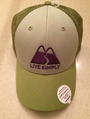 fc7eab559ab Patagonia Live Simply Winding Mens Lopro Trucker Hat Low Crown Desert Sage  NWT