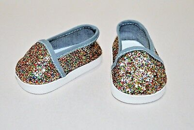 """American Girl Doll Our Generation Doll 18"""" Dolls Clothes Shoes Glitter Slip On"""