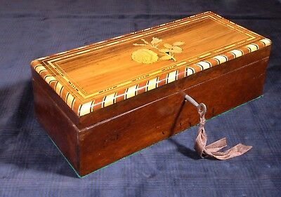 Antique rosewood box with marquetry ornaments. R660445
