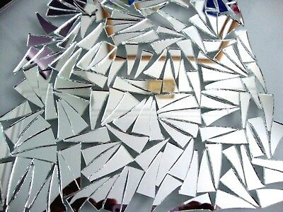 100 # Mosaic Quality SILVER MIRROR GLASS Tiles (Approx 3 X 1.2 cm ) 2mm thick.