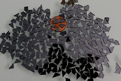 250 pcs Mosaic ( use for Crackle effect ) Gray mirror Tiny pieces,