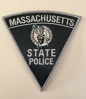 Massachusetts State Police Boston Celtics Subdued Patch Ma Mass